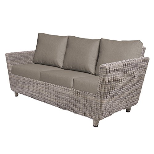 Aqua-Saar Dining Sofa 3-Sitzer Mailand Loungesofa Roca Light Grey AS63009