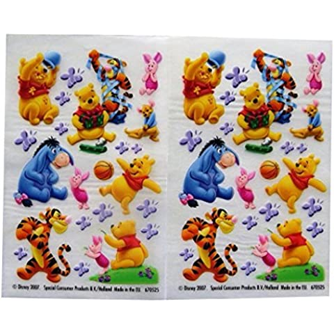Winnie the Pooh and Friends - Colourful Creative Rub on Transfer Stickers - 2 Sheets by Disney