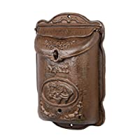 Saddle Bag Brown Solid Cast Iron Mail Letter Post Box Wall mounted antique rustic