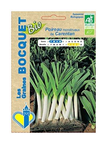 Les Graines Bocquet - Graines De Poireau Monstrueux De Carentan-2 Certifie Ecocert Fr-Bio-01 - Graines Potagères À Semer - Sachet De 4Grammes