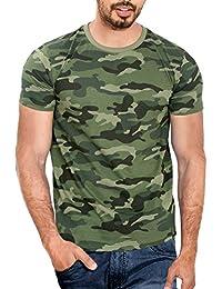 WYO Men's Cotton Camouflage Half Sleeve T-Shirt