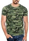 WYO Wear Your Opinion Men's Cotton T-Shirt - WYO000114PLNC-M-XL-GreenCamo