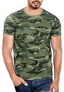18683db813 Wyo Wear Your Opinion Men's T-Shirt (WYO000114PLN-M-L-GreenCamo_Large_Green  Camo)