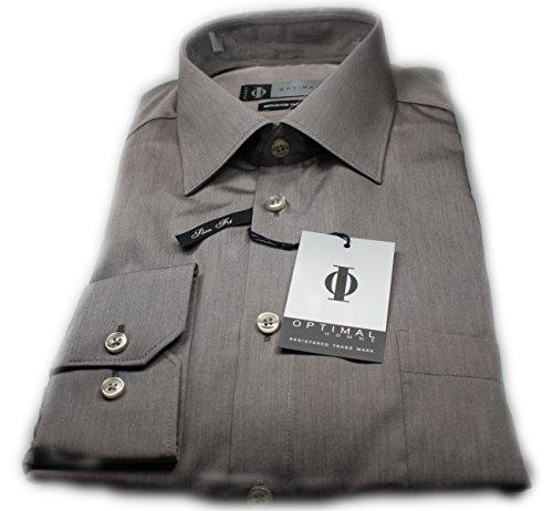 Optimal -  Camicia classiche  - Uomo Grau