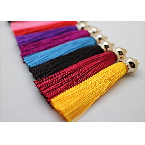PAMIR TONG Fashion 12pcs Ice Silk Silky Tassel for Cell Phone Straps/DIY Charms Handbag Pendant by