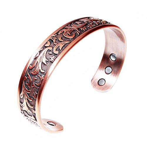 Kupfer-Armband für Arthritis verwendet - ein reines Kupfer-Magnet-Armband mit 6 Magneten für Männer und Frauen, um Gelenkschmerzen wirksam zu lindern.