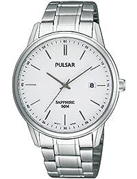 Pulsar Uhren PS9049X1 - Reloj analógico para caballero de acero inoxidable blanco