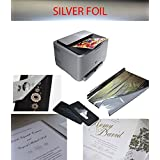 Silver Foil Transfer; plastifiées sur impression Laser, Color Argent, 5feuilles A4