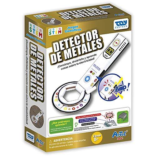 Toy Partner- Artec CREA tu Detector de Metales, Color Blanco/Negro/Rojo/Verde 95050