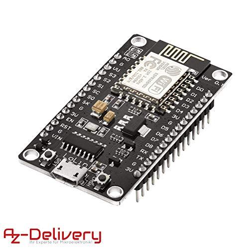 AZDelivery NodeMCU Lua Lolin V3 Módulo ESP8266 ESP-12E WIFI con CH340 Tarjeta de Desarrollo Wifi con eBook incluido
