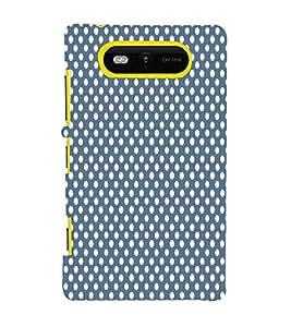 Dark Blue Royal Dots 3D Hard Polycarbonate Designer Back Case Cover for Nokia Lumia 820 :: Microsoft Lumia 820