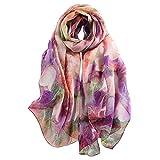 Story of shanghai foulard femme mousseline de soie écharpe châle léger élégant