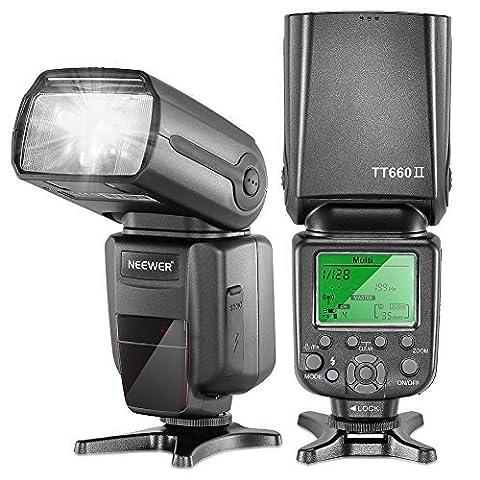 Neewer 5500k 2.4G Flash Sans Fil Professionnel NW TT660 II Flash Diffuseur Pour Canon T5i T4i T3i T2i T1i SL1, EOS 700D 650D 600D / EOS Rebel T3i, 550D / Digital Rebel T2i, 500D / Digital Rebel T1i, 100D Nikon D3300 D3200 D3100 D3000 D5200 D5100 D5000 D7000 D710, Pentax K-m, K-r, K-x, K-01, K-5, K-7, Olympus E-M1, E-M5, E-P3, E-P5, E-PL3 et Tous les Autres SLR DSLR Caméras Professionnelles Photographie avec Sabot Universel