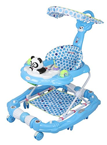 Tiffy & Toffee Delight Baby Walker with Rocker (Royal Blue)