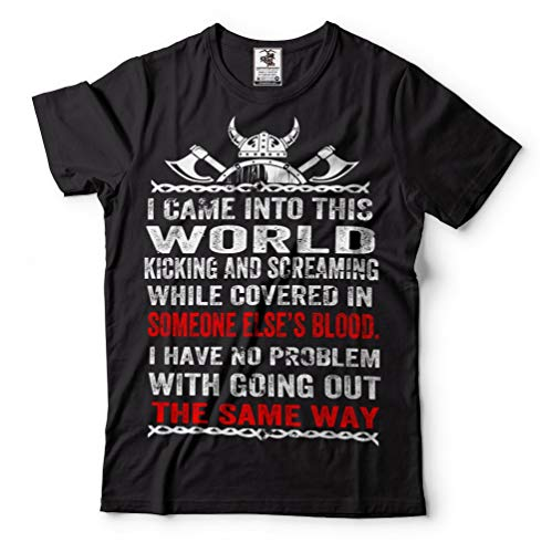 Silk Road Tees Men s Viking Blood Scream T-Shirt Valhalla Valknut Odin Tee  Shirt X 6af62beea