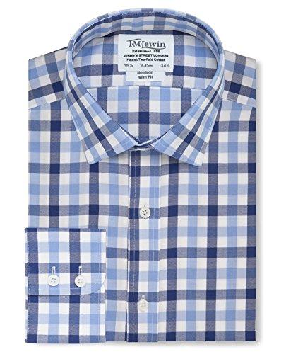 tmlewin-mens-non-iron-block-check-slim-fit-button-cuff-shirt-navy-blue-175
