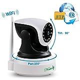 Überwachungskamera Sicherheitskamera IP Kamera Home Baby Monitor mit WiFi HD Wireless WLAN Kamera Kamera-Sicherheitssystem 720P P2P IR Nachtsicht drahtlose IP Camera für Security 1 + 3M Netzkabel