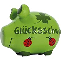 KCG Spardose Sparschwein klein grün Glückschwein