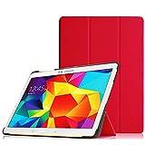 Fintie, hoes voor Samsung Galaxy Tab S 10.5 T800, T805, 10,5 inch, tablet-PC, ultraslank, superlicht, standaard, slimshell, beschermhoes, etui, tas met automatische slaap-waakfunctie, Galaxy Tab S 10.5 rood