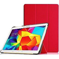 Fintie Hülle für Samsung Galaxy Tab S 10.5 T800 T805 (10,5 Zoll) Tablet-PC - Ultra Schlank superleicht Ständer SlimShell Cover Schutzhülle Etui Tasche mit Auto Schlaf/Wach Funktion, Rot