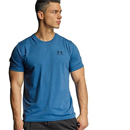 Under Armour Herren Fitness Cc Left Chest Lockup Kurzarm T-Shirt, Blau (Blackout Navy /  / Steel), S (Kurzarm-pullover Navy)