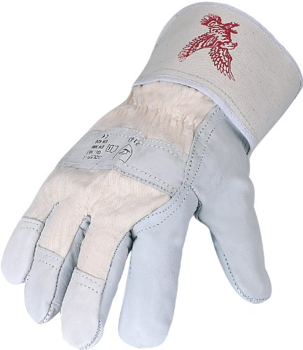 Asatex Mech. Schutzhandschuhe/Arbeitshandschuhe Adler-C Rindvollleder - Größe 10,5, EN (Adler Handschuhe)