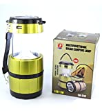 Asier SH-518,5+1W Torch LED Rechargeable Multi-functional Solar Camping Lamp LED Solar Emergency Light Lantern + USB Mobile Charging point, 3 Power Source Solar, Battery, Lithium Battery, Travel Camping Lantern (Color May Vary)