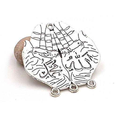 Creafirm Islam Religion, 2 Anschlüsse, offene Hände, matt, 70 mm, silberfarben