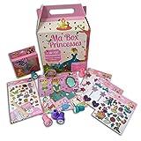 Téo & Zina CDZ100 Coffret Ma Box Princesse Kit de Papeterie avec 100 accessoires Papier Multicolore 20 x 29 x 10 cm