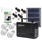 Tutoy Lm-3606 110-220V 4Usb Panneau Solaire Générateur Solaire Système Avec Panneaux Lampsolar Led...