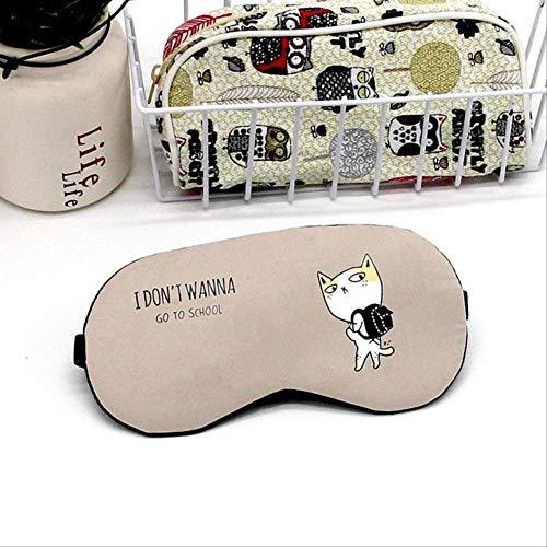 Schlafmasken, weicher Samt und Baumwolle Nahtlose niedliche Hundekarikatur für die Reise entspannen sich die Schlafhilfe, für Jungen und Mädchen-Geburtstags-Feiertags-Geschenke Khaki -