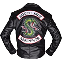 BURNING SKULL BSKULL Riverdale Southside Serpents Faux Leather Jacket Black (XXS-5XL)