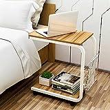 MAIKA HOME - Einfacher moderner mobiler Kleiner Couchtisch/Seitenschrank Trennwand/Wohnzimmer Sofa Kleiner quadratischer Tisch (Farbe: A)