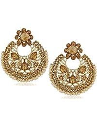 Meenaz Jewellery Traditional Pearl Ear Rings Wedding Fancy Party Wear Necklace Set Jewellery Set Earrings For...
