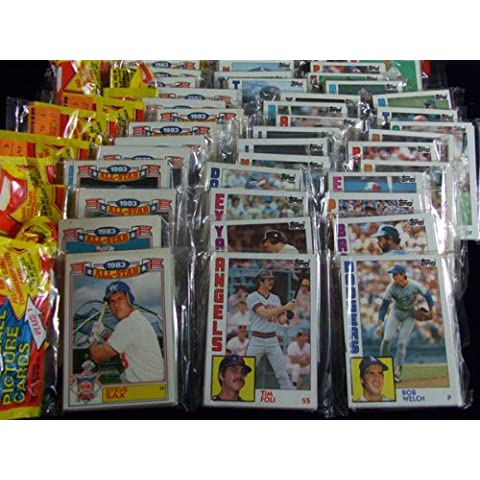 1984 Topps Baseball Cards - RACK Pack ( 54 Cards + 1983 All Star Card) by Topps
