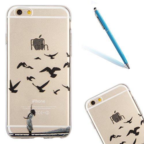 iPhone 6 Handyhülle,iPhone 6S Fall Case,CLTPY Kunst Malerei Muster Pattern Foto Serie [Crystal Transparent] Silikon TPU Extra Schutzhülle für Apple iPhone 6/6S,Kratzfeste Anti-Stoß Leichte Thin Clear  Glaube