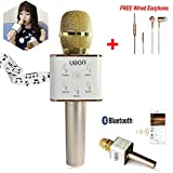 Multi Magic Karaoke Microphone Wireless, MM Portable Handheld Singing Machine Condenser Microphones Mic And Bluetooth Speaker Compatible with iPhone/ iPad/ iPod/ Samsung Sony HTC Lumia Smartphones Tab at amazon
