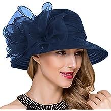 Mujer fascinador derby Cloche Hats Vestido de la iglesia británica Sombrero  de copa S051 2ca8f49f8c0