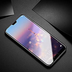 GoRogue Huawei P20 Pro Premium Curved Anti Burst Tempered Glass Screen Protector (Carbon Black)