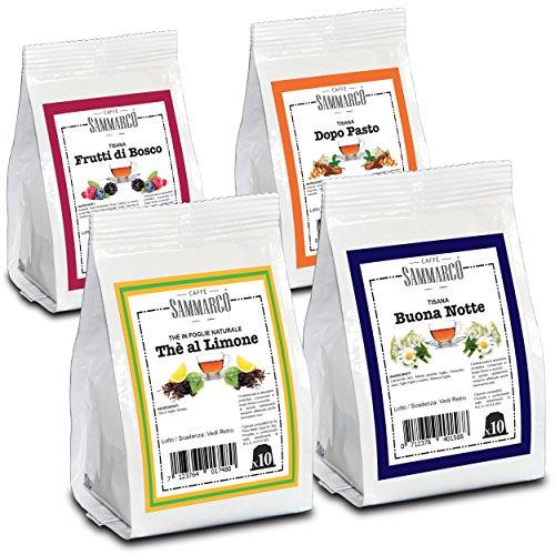 Caffè Sammarco Kit degustazione Thé & Tisane 40 capsule compatibili Nespresso di Te e Tisane miste