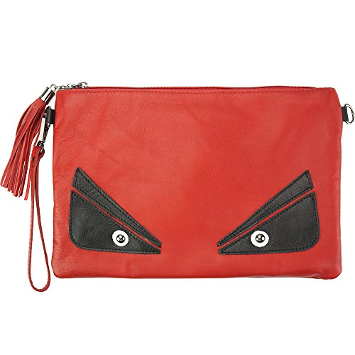 TEODORA CLUTCH AUS KALBSLEDER MADE IN ITALY 6128 Hellrot