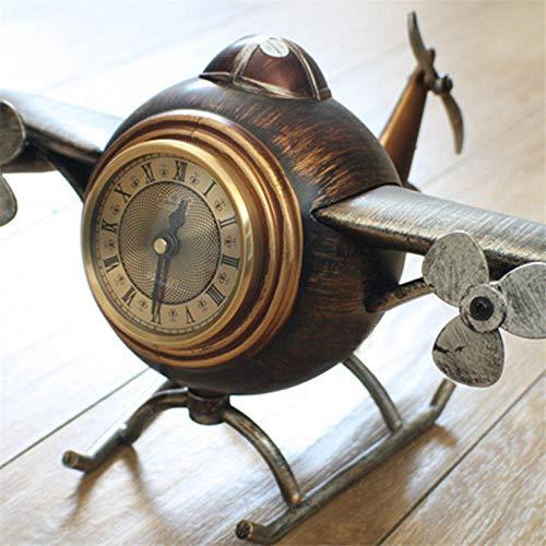 Sinzong Wecker Tischsitz Uhr Shop Dekor Retro Uhr Retro Flugzeug Wecker Das DIY Haushaltsdekor Flugzeug