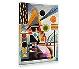 Giallobus - Quadro - Stampa su Tela Canvas Kandinsky - Quadro Astratto Oscillazione - Quadri Moderni di Tela - Vari Formati - 50 x 70 CM