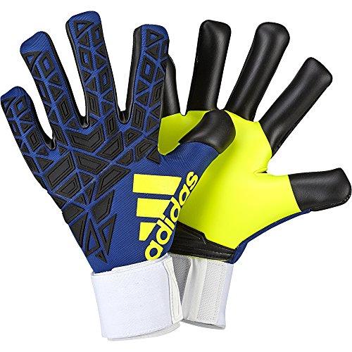 adidas Erwachsene Torwarthandschuhe Ace Trans Pro Iker Casillas, Blue/Black/Solar Yellow, 10
