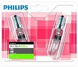Philips EcoClassic 925712144205 Glühlampen für Dunstabzugshauben E14, 28 W, 2BL/10, 230V) 2Stück