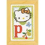 Vervaco - Kit para cuadro de punto de cruz, diseño de Hello Kitty con la letra P, multicolor