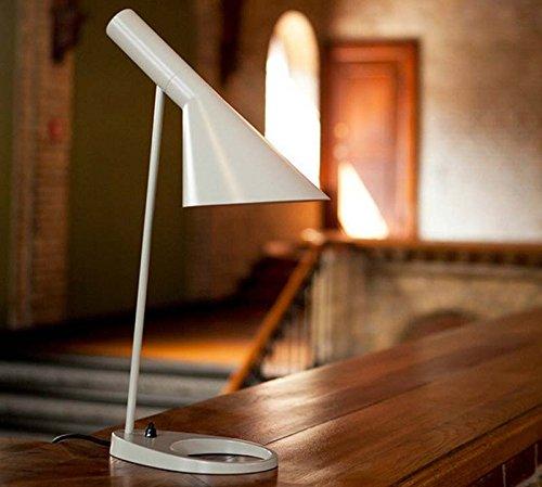 Yool Augenschutzlampe Einfache Kreative Amerikanische Leselampe Wohnzimmer Büro Kopfteil,White (Stehleuchte Metall Lackiertem Aus)