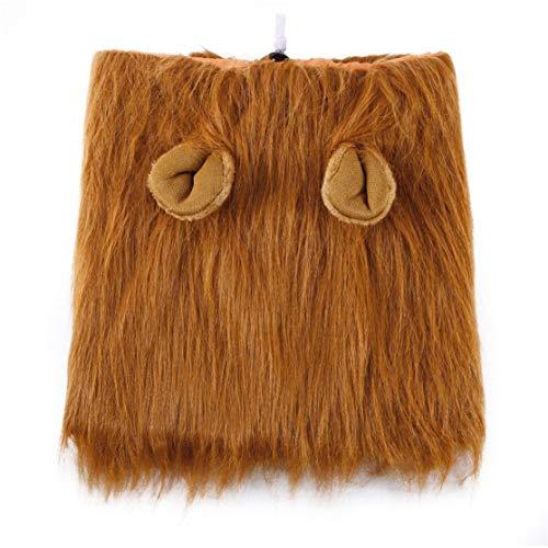 LouiseEvel215 Tier Haustier Kostüm Lion Perücken Mähnenhaar Schal Party Kostüm Kleidung Hund Kostüm Festival Party Kostüm für Hund (Lion Dog Kostüm Mähne)