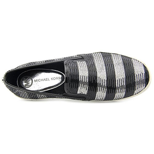 Michael Michael Kors Keaton Slip On Synthétique Baskets Blk-Silver
