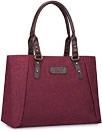 2cdde1883 S-Zone Women's Leather Shoulder Handbags Lightweight Large Capacity Tote Bag  Durable Casual Bag Work Bag Fashionable Ladies Top…